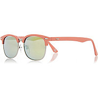 Girls orange retro sunglasses