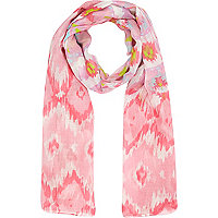 Girls pink aztec scarf