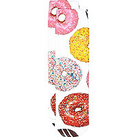 Girls white doughnut print socks