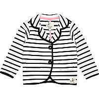 Mini girls black stripe blazer
