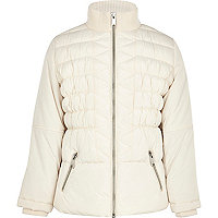 Girls white padded coat