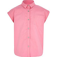 Girls pink boxy shirt