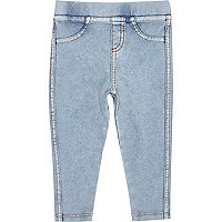 Mini girls medium denim look leggings