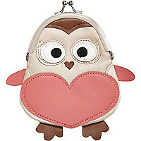 Girls brown owl purse