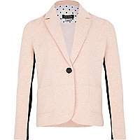 Girls pink preppy blazer