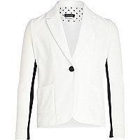 Girls white preppy blazer