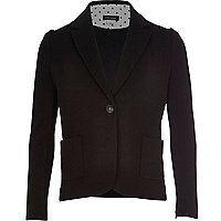 Girls black preppy blazer
