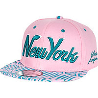 Girls pink New York aztec snapback hat