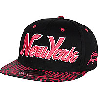 Girls black New York aztec snapback hat