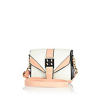 Girls white snake skin crossbody bag