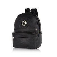 Girls black Ri rucksack