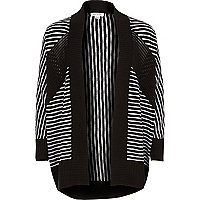 Girls mono stripe cardigan
