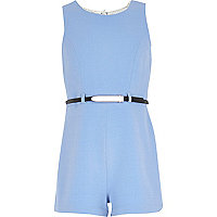 Girls pale blue playsuit
