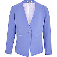Girls blue vintage crepe blazer