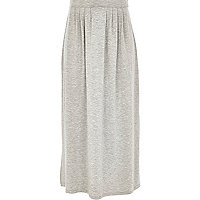 Girls grey jersey maxi skirt