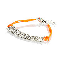 Girls orange diamanté bracelet