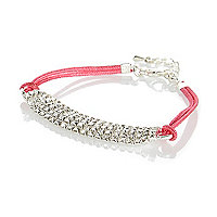 Girls rope diamanté bracelet