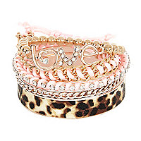 Girls rose gold tone bangle pack