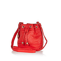 Girls red duffel bag