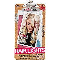 Girls pink hair lights