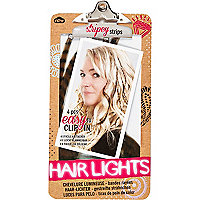 Girls brown stripey hair lights