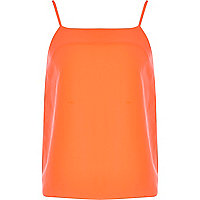 Girls fluro orange cami vest