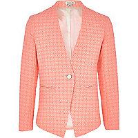 Girls pink aztec blazer