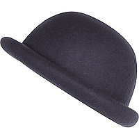 Girls grey bowler hat