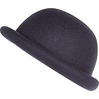 Girls grey bowler hat