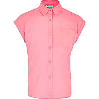 Girls neon pink boxy shirt