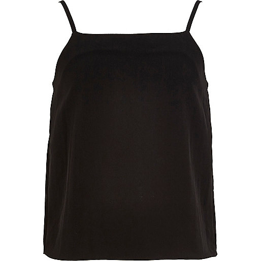 Girls basic black cami