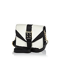 Girls black and white cross body bag