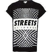 Kids black streets of London print t-shirt