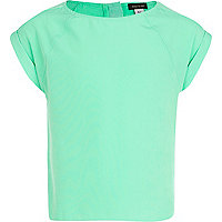 Girls green box top