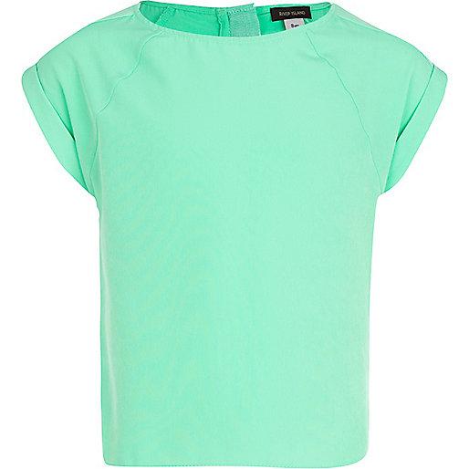 Girls green box top