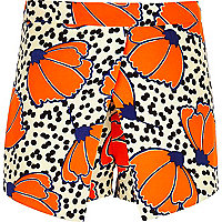 Girls orange skort spot fluro