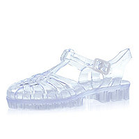 Girls clear jelly sandals