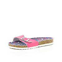 Girls pink footbed sandals
