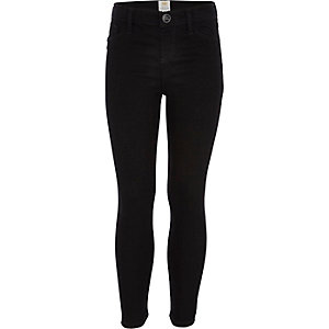 Girls black jeggings