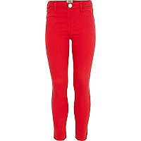 Girls red jeggings