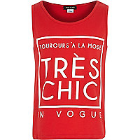 Girls red tres chic vest