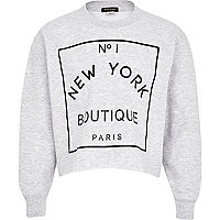 Girls grey New York Boutique sweatshirt