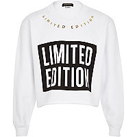 Girls white Limited Edition sweatshirt
