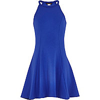 Girls blue halterneck dress