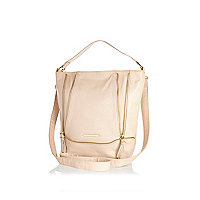 Girls cream large crossover bag