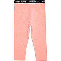 Mini girls coral leggings