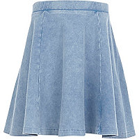 Girls denim skater skirt