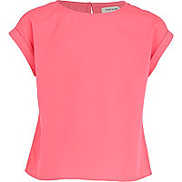 Girls pink box fit top