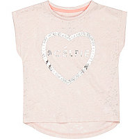 Mini girls pink celfie t-shirt