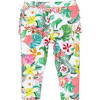 Pink Legging Ruffle Bum Floral